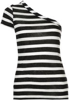 RtA Anais One striped asymmetric T-shirt