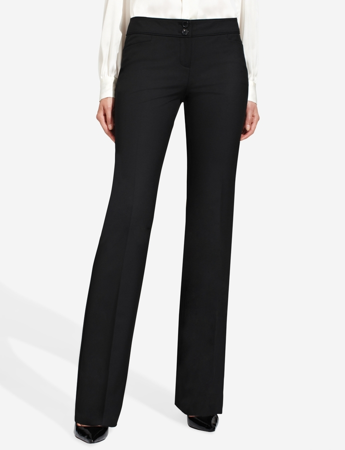 The Limited Cassidy Piped-Waist Bootcut Pants