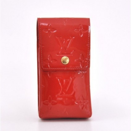 Louis Vuitton very good (VG Red Vernis Leather Pochette Case