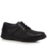 Hush Puppies Black 'barnet' Leather Shoes