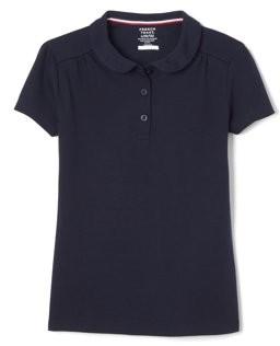 French Toast Toddler Girls School Uniform Short Sleeve Peter Pan Collar Polo Shirt (Toddler Girls)