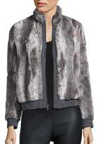 Splendid Faux Fur Bomber Jacket