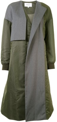 Enfold Colour-Block Single-Breasted Coat