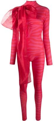 Atu Body Couture Animal Print Jumpsuit