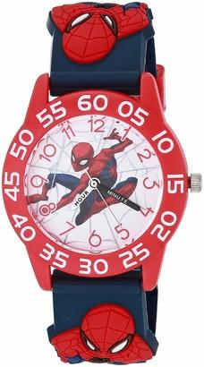 Marvel Boys' Spider-Man Analog Quartz Watch with Plastic Strap