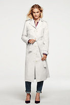 Lands' End Women's Long Trench Coat-Cobalt End On End Stripe