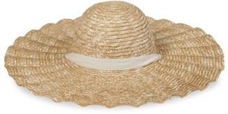 LACK OF COLOR Scalloped Dolce Straw Wide-Brim Hat