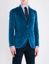 Boglioli Single-breasted velvet jacket