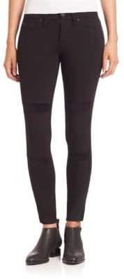 Hudson Amory Velvet Inset Skinny Jeans
