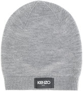 Kenzo logo patch beanie - men - Wool - One Size
