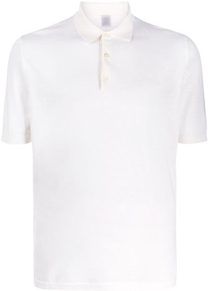Eleventy Short-Sleeve Fitted Polo Shirt