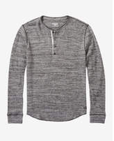 Express long sleeve waffle knit henley