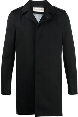 Saint Laurent Buttoned Raincoat