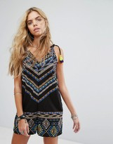 Noisy May Playsuit With Print Detail