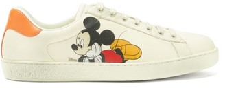 Gucci X Disney Ace Mickey Mouse Leather Trainers - White Multi