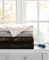 Simmons Duke Faux-Fur Heated Throw Bedding