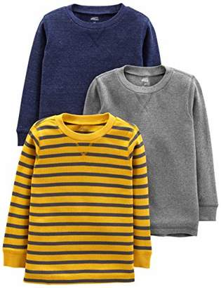 Carter's Simple Joys by Boys' Toddler 3-Pack Thermal Long Sleeve Shirts