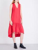 3.1 Phillip Lim Ladies Punch Pink Pintucked Silk-Crepe Midi Dress