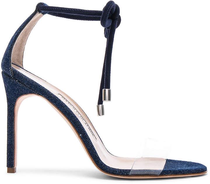Manolo Blahnik Estro 105 Sandal in Blue | FWRD