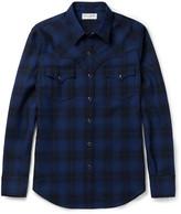Saint Laurent Slim-Fit Checked Wool-Flannel Western Shirt