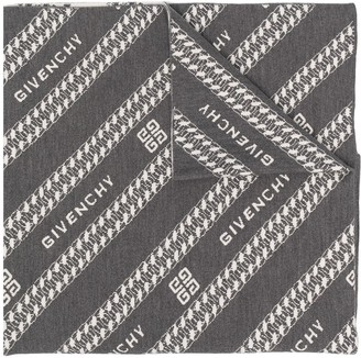 Givenchy Cable Pattern Scarf