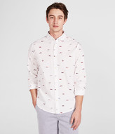 Long Sleeve Boat Print Woven Shirt