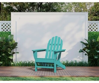Polywood Classic Adirondack Plastic Chair Color: Aruba