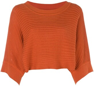 Issey Miyake Pre Owned 80's Cropped Knitted Blouse