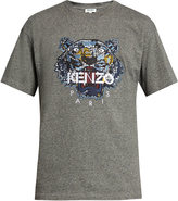Kenzo Tiger-head embroidered cotton T-shirt