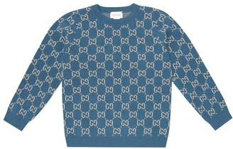 Gucci Kids GG jacquard wool sweater