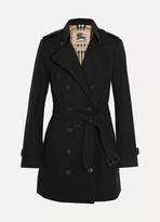 Burberry The Sandringham Mid Cotton-gabardine Trench Coat - Black