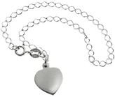 Journee Collection Tressa Collection Sterling Silver Heart Charm Bracelet