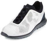 Ermenegildo Zegna Techmerino Rubberized Sneaker, White