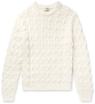 Acne Studios Cable-Knit Cotton-Blend Sweater