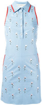 Drome embroidered flower dress - women - Leather/Cupro - XS