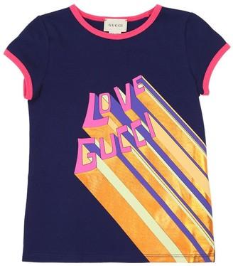 Gucci Love Print Cotton Jersey T-shirt