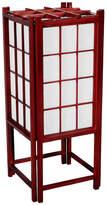 "Oriental Furniture 18"" Window Pane Shoji Lamp, Rosewood"