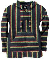 Old Glory Rasta Stripe Woven Baja Hoodie - 2X-Large