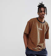 Reclaimed Vintage Inspired Striped T-Shirt With Extra Embroidery