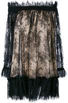 Alexander McQueen off the shoulder lace dress - women - Silk/Cotton/Polyamide - 40