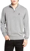 Psycho Bunny Men's Quarter Zip Sweater