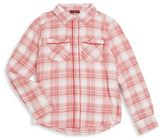 7 For All Mankind Girl's Plaid Button-Front Shirt
