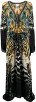 Camilla V-neck Paradise print silk dress
