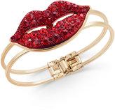 Thalia Sodi Gold-Tone Red Pavé Lip Hinge Bracelet, Only at Macy's
