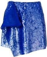 Alberta Ferretti layered sequined mini skirt