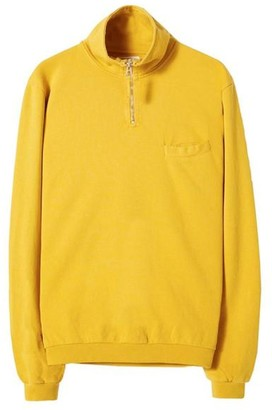 Universal Works Diag Loopback Zip Neck Sweatshirt Sun - M