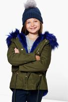 Boohoo Girls Boutique Padded Faux Fur Hooded Parka