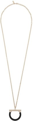 Salvatore Ferragamo Gancini drop necklace