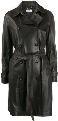 Desa 1972 Belted Leather Coat