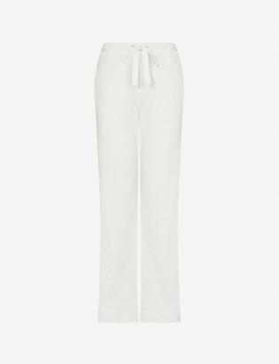 The Upside Ezi wide-leg mid-rise cotton jogging bottoms
